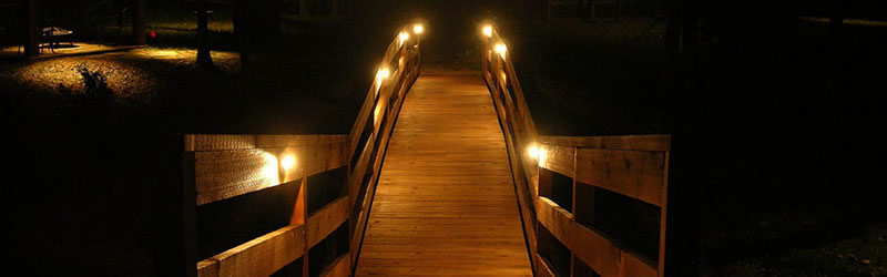 Pathway and Bridge LED lighting in Dallas and Fort Worth Texas are essential for not only safety but for security as well. Exterior landscape lighting by LED is very efficient and saves money