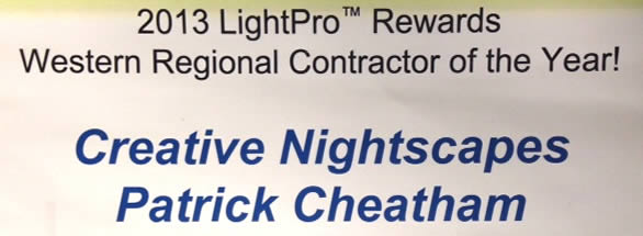 2013 LightPro Rewards Western Regional Contractor of the Year