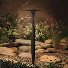 Residential and commercial outdoor LED low voltage lighting for patios, pool decks, walkways, and up tree lighting in Coppell Texas by Creative Nightscapes