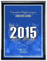 Landscape Lighting Best of 2015 Fort Worth Award