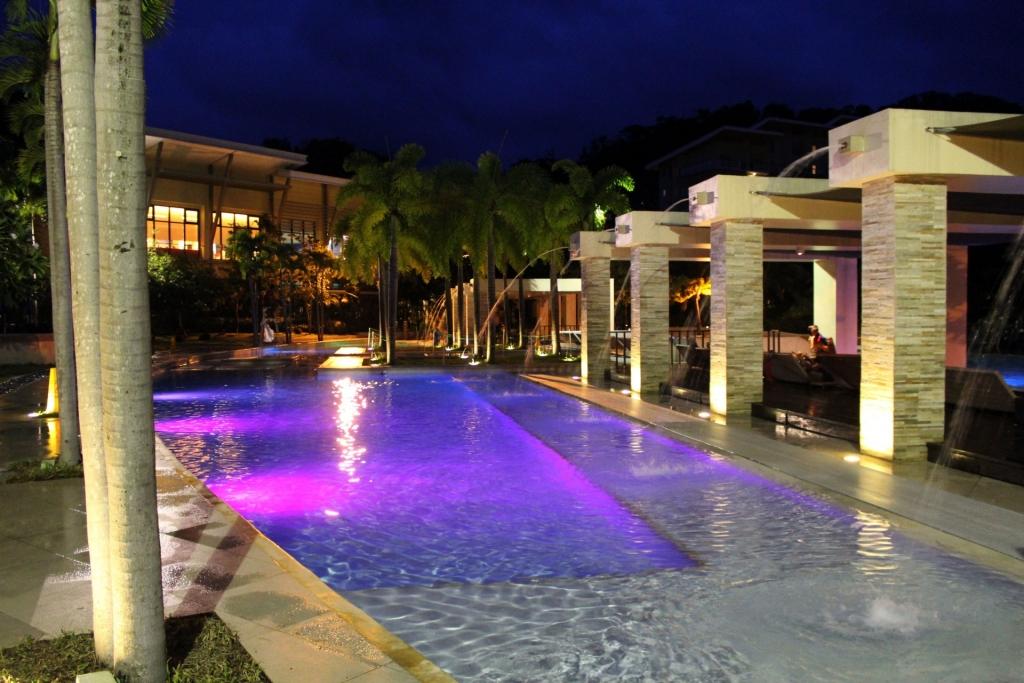 Beautiful well lit pool area