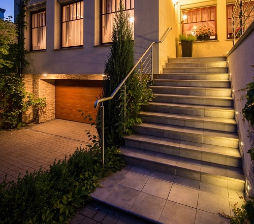 Entrance to modern detached house