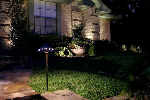 LED Pathway Light In Front Of House