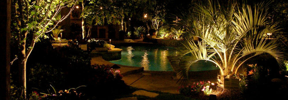 poolside lighting in Aledo TX