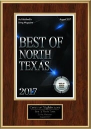Landscape Lighting Best of North Texas 2017 Award