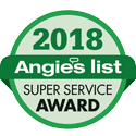 Green Angies List Super Service 2018 badge